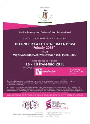 """Kongres """"Falenty 2015"""": diagnostyka i leczenie raka piersi"""