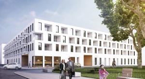 Wrocław: wiecha na pierwszym budynku wielofunkcyjnego osiedla z domem seniora