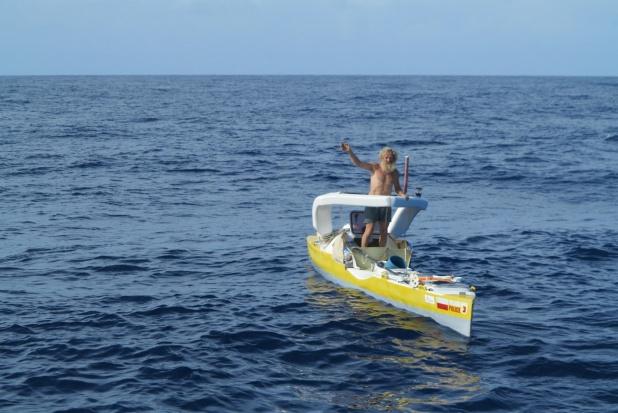 69-letni Aleksander Doba już płynie przez Atlantyk