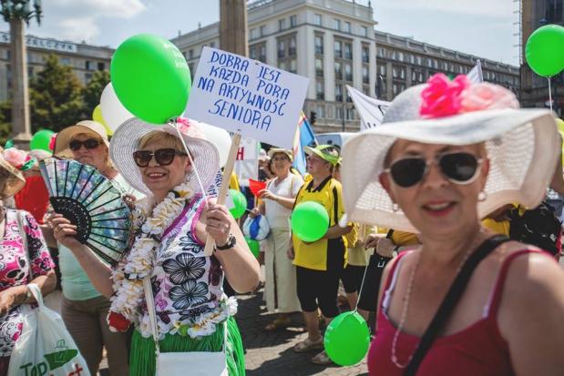 Warszawa: 2 września Parada Seniorów i Piknik Pokoleń
